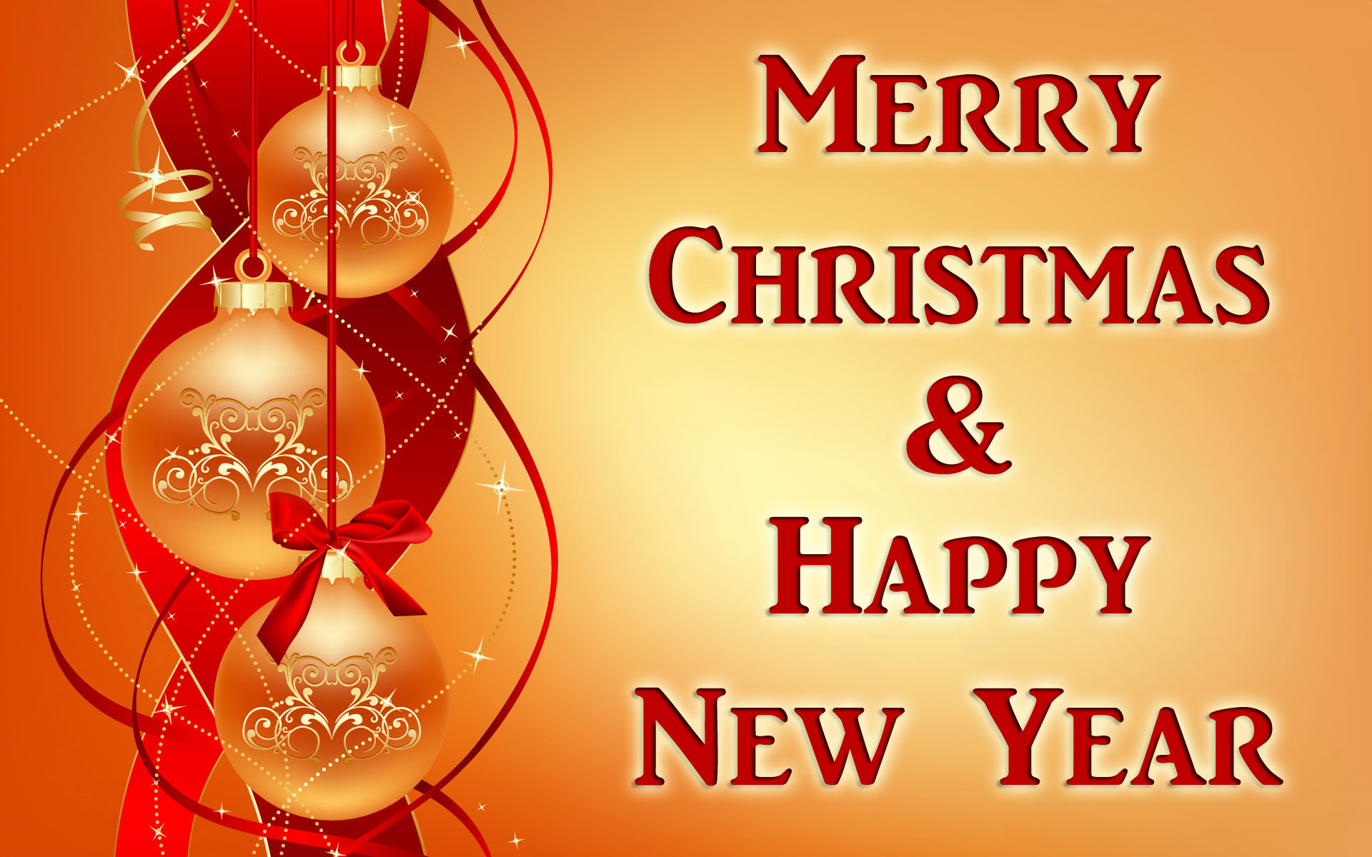 beautiful christmas n new year greetings card wallpaper